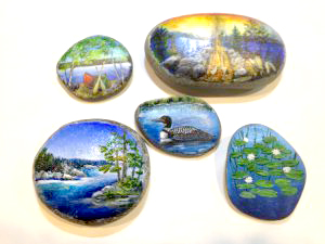 Painted Rocks from Into The Brush Micro Classes