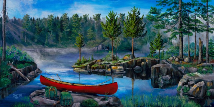 Lost in the Boundary Waters 24X48 Acrylic